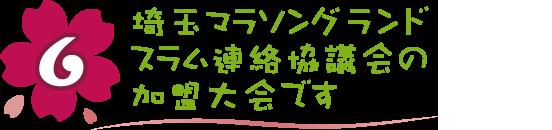 魅力6 埼玉マラソングランドスラム連絡協議会の加盟大会です